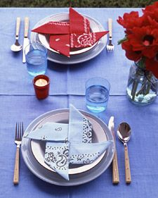 Pinwheel Napkins - Martha Stewart Crafts