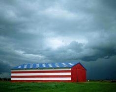Patriotic Barn in California