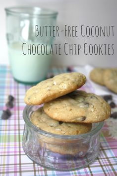 Butter-Free Coconut Chocolate Chip Cookies {Recipe}