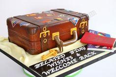 Celebrate with Cake!: Vintage Luggage Cake Suitcas Parti, Luggag Cake, Celebrate With Cake, Cakes, Cake Inspir, Retro Suitcas, Travel Cake, Decor Cake, Vintage Luggage