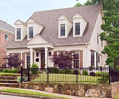 Adding a short retaining wall can really help you embrace your slope! http://www.bhg.com/home-improvement/exteriors/curb-appeal/entryway-designs/?socsrc=bhgpin101614banishaslope&page=7