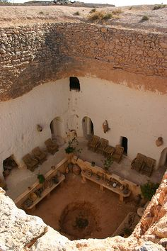 Underground House, Gharyan, Libya by Mike Gadd, via Flickr