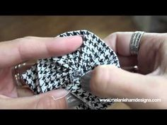 ♥♥ How To: Make a Fast and Easy Fabric Flower ♥♥ - YouTube