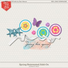 FREEBIE!! Spring Reinvented Add-On by JB Studio | Daily Download