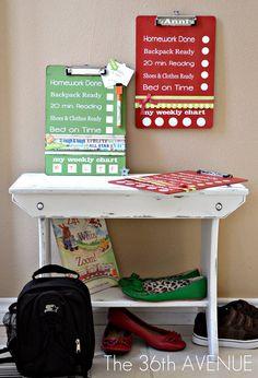 Chores clip boards