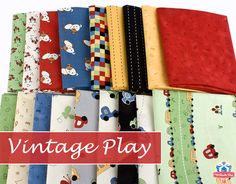 Vintage Play by Suzn Quilts for Red Rooster Fabrics - charming prints for charming quilts