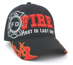 """First In, Last Out"" Embroidered Baseball Cap 