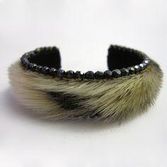 fur, gemstone bracelets
