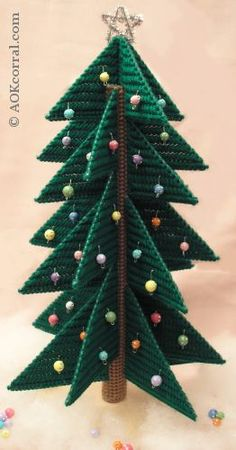 3D Plastic Canvas Christmas Trees