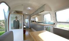 This 160 square foot airstream trailer house is tres chic!