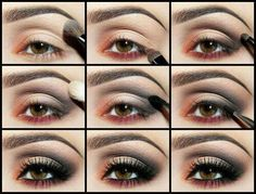 9 easy steps to a smokin' eye makeup look beauties! Colors optional. #smokeyeye #makeup #eyeshadow