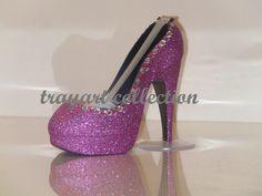 Pink White Gem Bling sparkle High Heel Shoe TAPE DISPENSER Stiletto Platform - office supplies - trayart collection. $27.00, via Etsy.