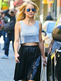 Star Tracks: Tuesday, May 20, 2014 | STUNNING STREET STYLE | Kate Hudson expresses her right to 'bare' arms while she enjoys the warm weather in the Tribeca neighborhood of New York City Monday.