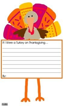 If I Were a Turkey on Thanksgiving...Writing Prompt