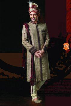 pakistani groom, embroid sherwani, manyavar