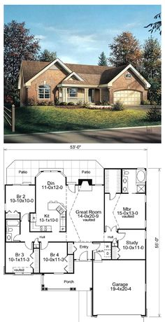Luxury Ranch Style Home Plans Floor Plan Collections House Plans