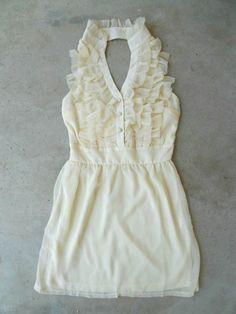 Ruffles of Ivory Dress