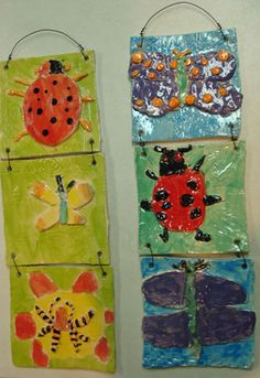 Insects and bugs stoneware plaques!