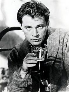 "Richard Burton. ""I rather like my reputation, actually, that of a spoiled genius from the Welsh gutter, a drunk, a womanizer; it's rather an attractive image."" film, peopl, icon, hollywood, movi, actor, richard burton, drinks, eye"