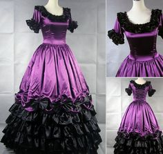 costum, ball gowns, cloth, purple, southern bell, gothic victorian, purpl gothic, ornat purpl, victorian dresses