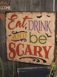 scari, holiday halloween, wood halloween crafts, wood holiday, halloween subway, halloween wood signs, drinks, ear drink