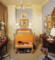 anthony hail's bedroom in san francisco - lavender walls