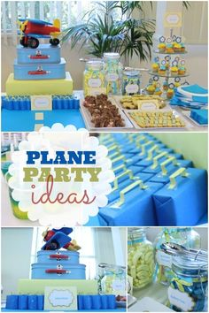 Plane themed birthday party via @Spaceships and Laser Beams -- #birthday #party #boys #planes #birthdayparty #partyideas