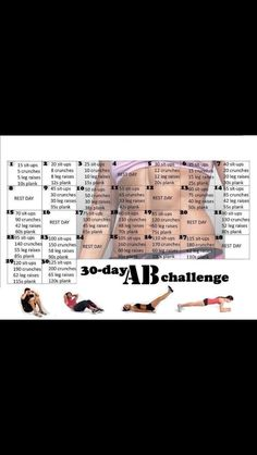 30 day abs challenge.