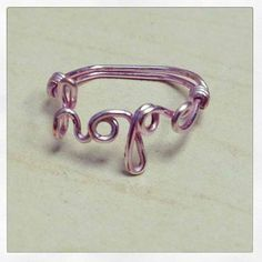 Handmade Pink Hope Ring