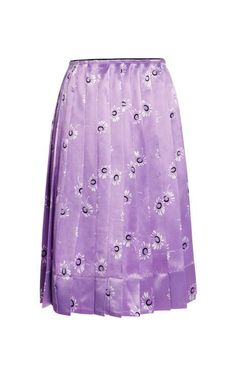 Satin Daisy-Print Pleated Skirt by Marc Jacobs