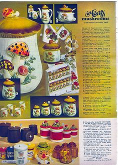 1971 Sears  Catalog. Was it just my family, neighborhood, and state, or did everyone else in the world have the mushroom set in their kitchen throughout the 70s?
