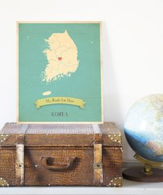 """My Roots Live Here"" Customizeable Wall Art - nice for internationally adoption children"