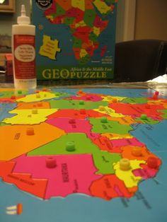 Making your own knobbed continent puzzle maps