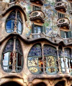 Gaudi windows Barcelona.