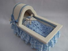 Dolls House Miniatures - Handmade Rocking Crib / Cradle. via Etsy.