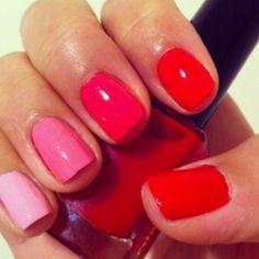 Valentine's Day manicure. Ombre.️