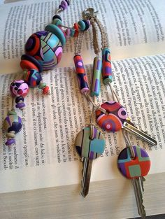 Just a photo, but I love these idea! polymer clay covered keys.
