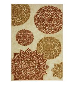 """Mohawk Home Mandarin Star Rug by Color Trend: Orange on #zulily"""""""