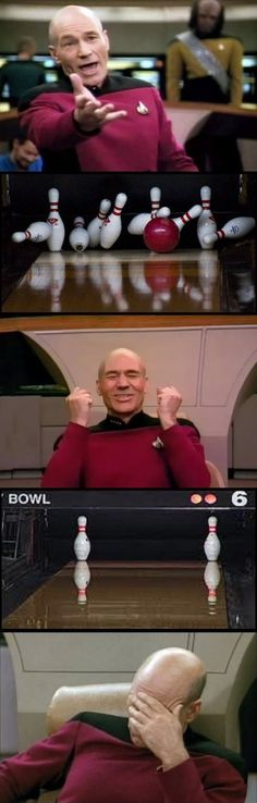 Awww Captain Picard...  Funny Pictures - Captain Picard Plays Bowling - www.funny-pictures-blog.com