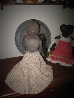 VERY Primitive Black Doll.......