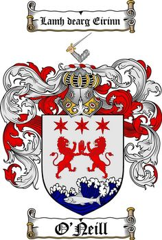 O'NEILL FAMILY CREST - COAT OF ARMS gifts at www.4crests.com