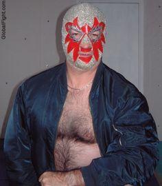 a hot french wrestler man wrestling outfit masked men