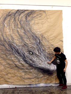 dragon, artist, anim mural