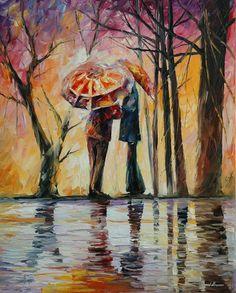 Rainy Date Painting  - Rainy Date Fine Art Print