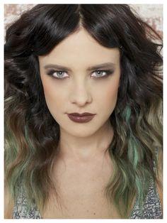 Spring Hair Color Inspiration: Peet, Meet Moss. Peekaboo mossy highlights how-to.