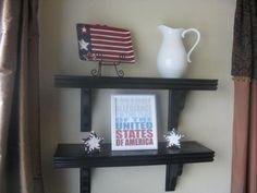 Corbel shelves - inexpensive, easy project! #DIY #craft #shelf #shelves #shelving