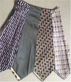 Neck tie skirt tutorial