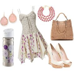 Summer Summer Summer Fashion Style Pink and Purple White Wedge Shoes Stay Hydrated