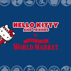 "Our Cost Plus World Market exclusive Hello Kitty Omatsuri Collection celebrates friendship with collectibles, gifts, everyday essentials and more—all adorned with Hello Kitty cuteness. ""Omatsuri"" is the Japanese word for ""festival,"" and Hello Kitty, along with her friends, invites you to join in the fun!"