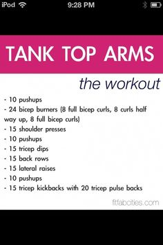 Tank top workout!!